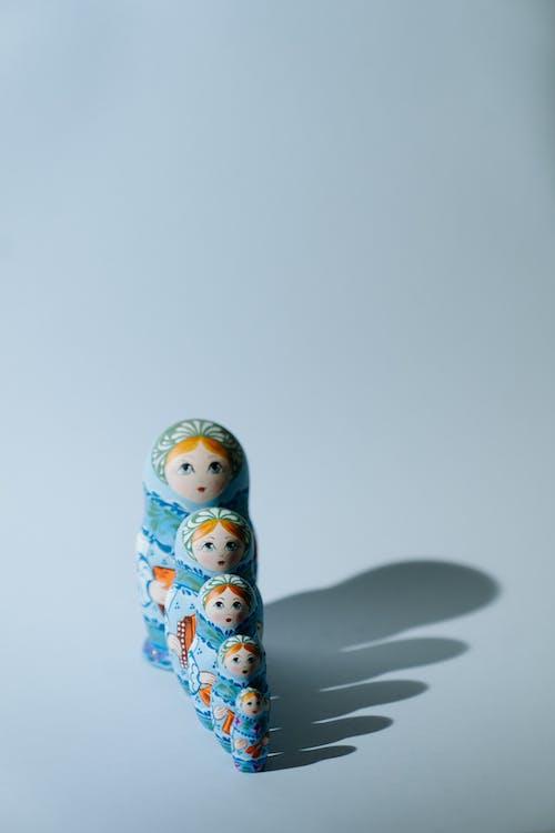 Blue and White Ceramic Figurine