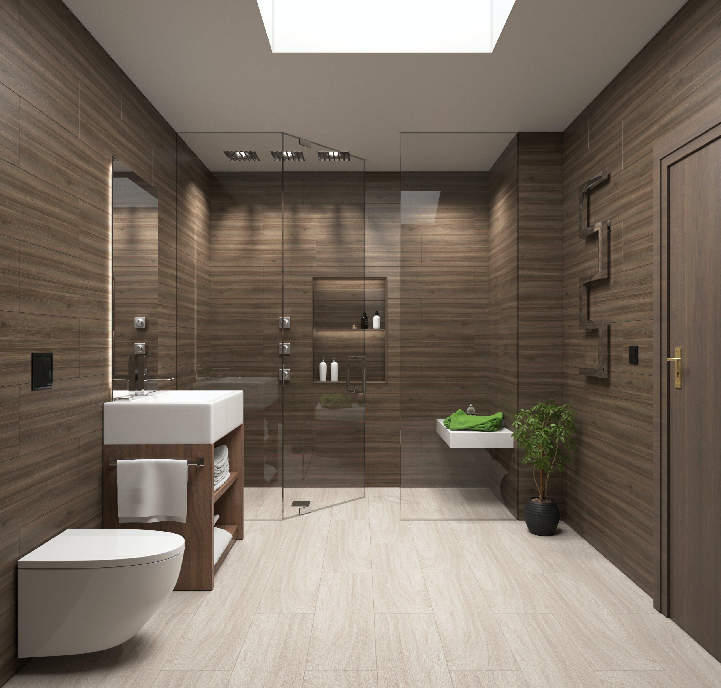 Free stock photo of bathroom, virtual, toilet, modern architecture