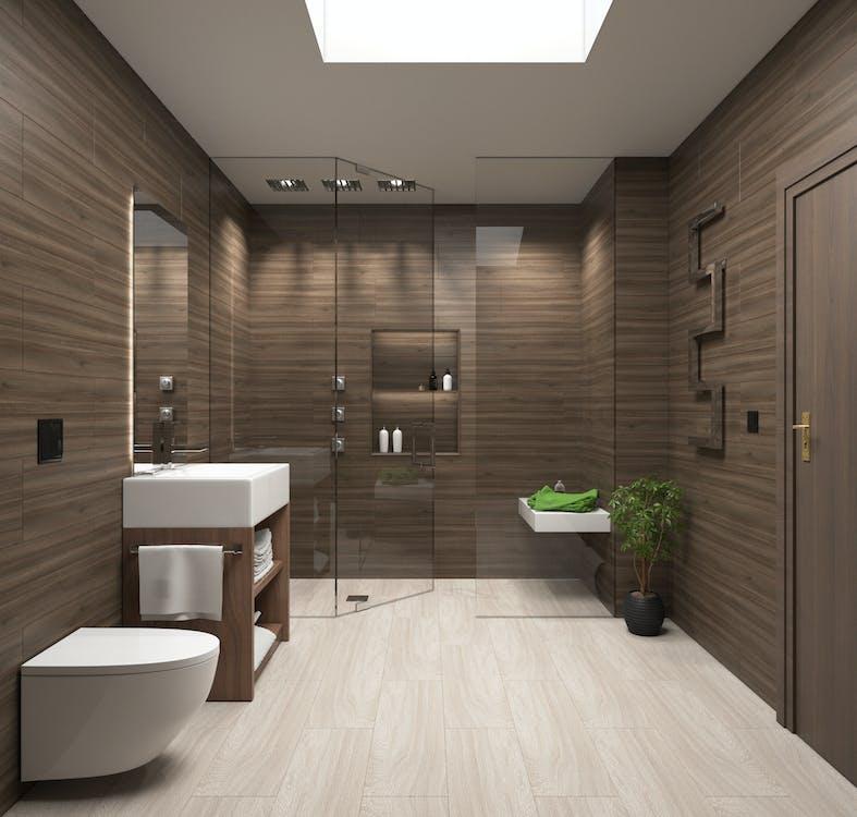 가상의, 욕실, 현대 건축의 무료 스톡 사진