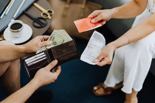 Бесплатное стоковое фото с бумажник, валюта, деньги