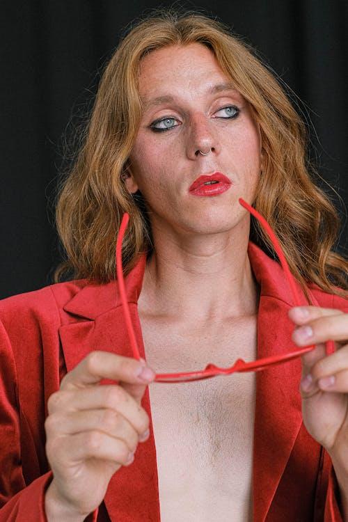 Kostnadsfri bild av allvarlig, androgyn, begrepp
