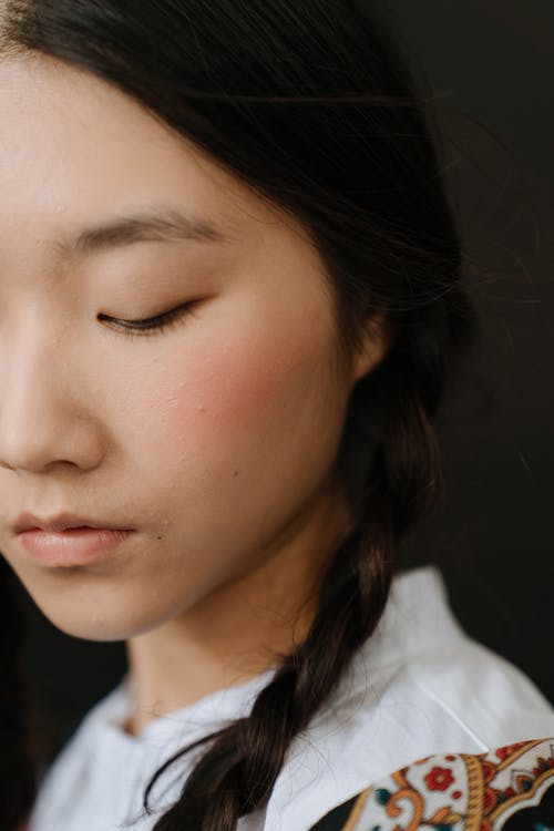 アジア人, アジア人女性, おさげ, フェイシャルの無料の写真素材