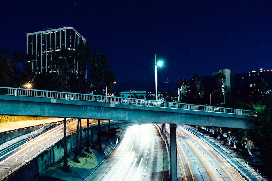freeway, long-exposure, motion