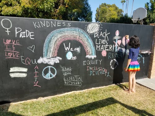 Free stock photo of backyard, black lives matter, chalk, chalk board