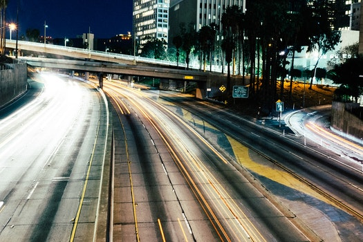 Free stock photo of freeway, long-exposure, time-exposure