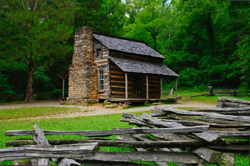 Free stock photo of fence, john oliver's cabin, log cabin, mountains
