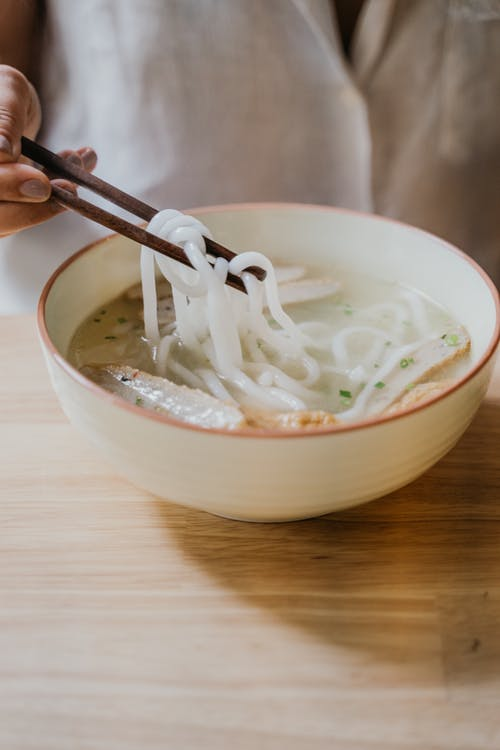 White Ceramic Bowl With White Soup