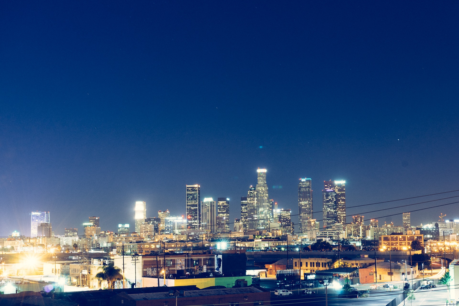City Buildings During Nighttime Free Stock Photo