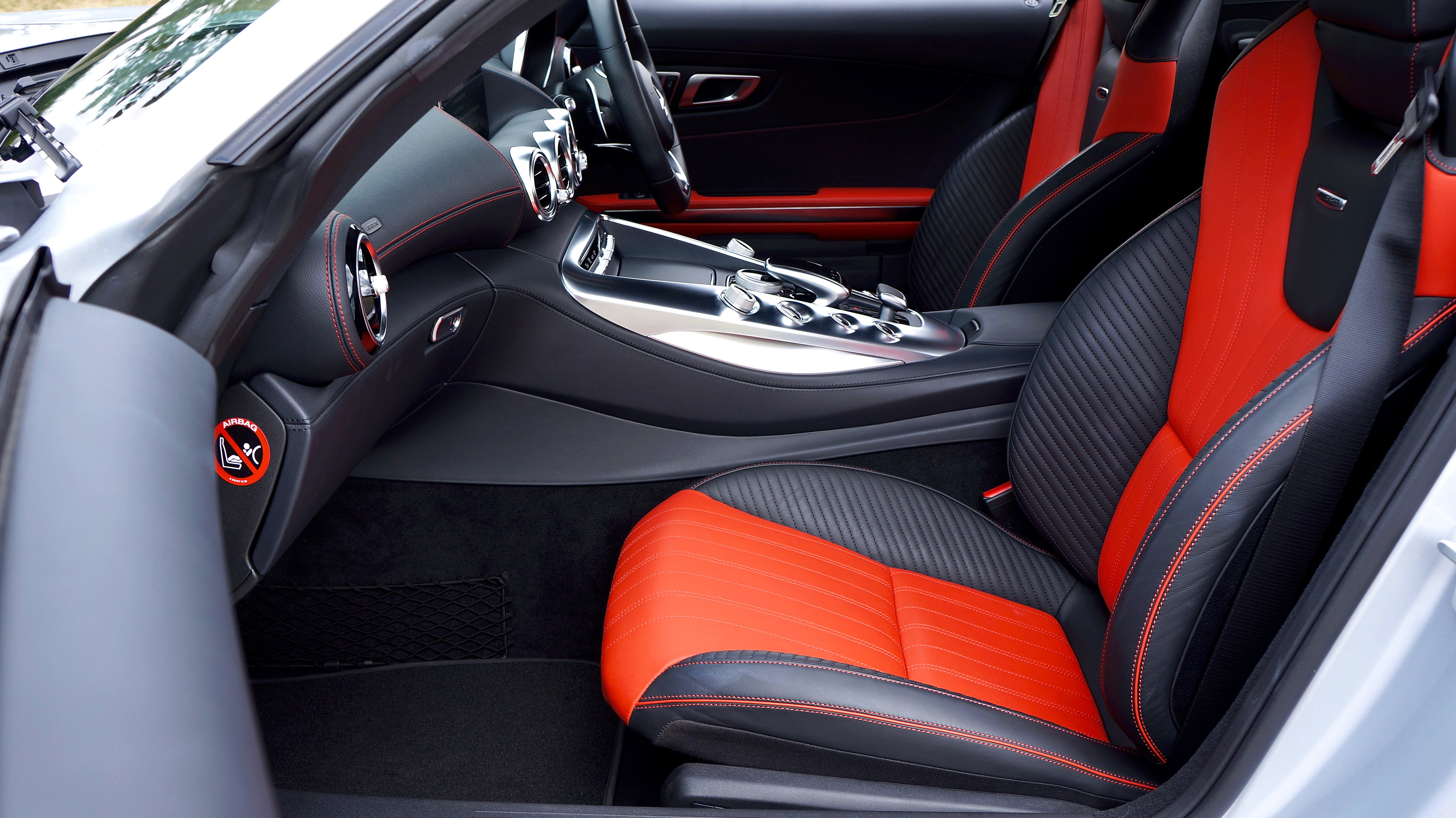 Black and Red Car Interior