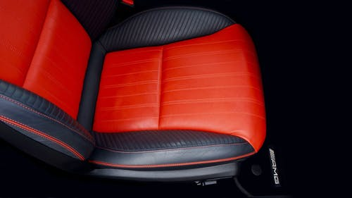 Black and Orange Car Seat
