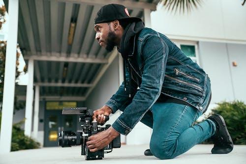 Camera Man Filming a Video