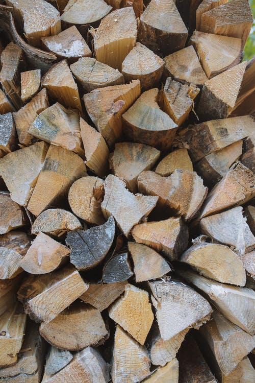 Brown and Gray Firewood Lot