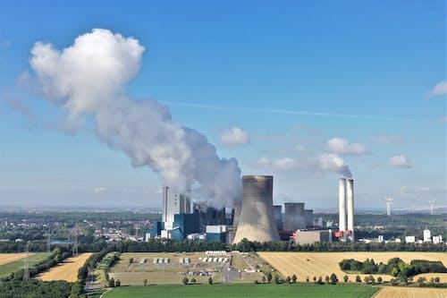 Free stock photo of kohlekraftwerk, luftaufnahme