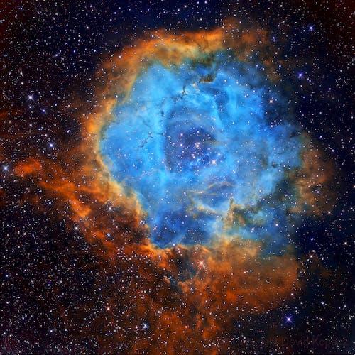 Blue and Orange Galaxy Illustration
