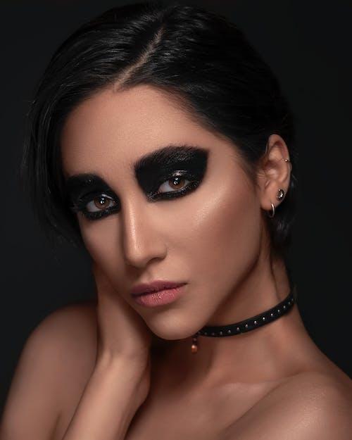 Free stock photo of beauty, black, eye shadow, fashion