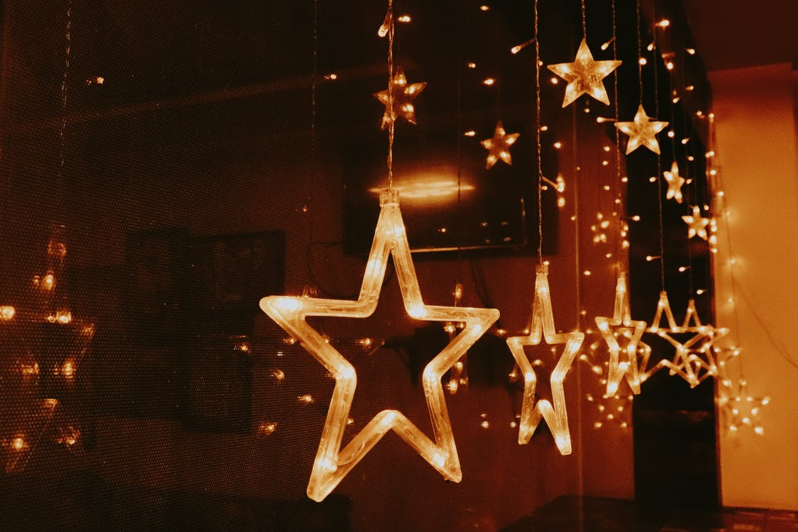 Red and Yellow Star Hanging Decor