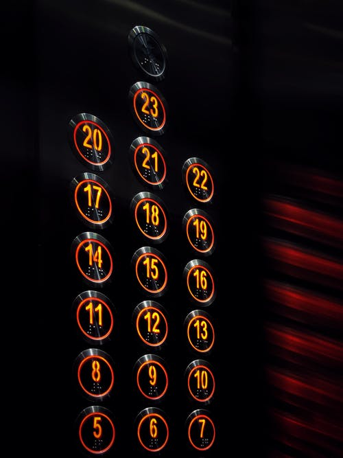 Free stock photo of electronic, Electronic buttons, Elevator buttons, elevator inside