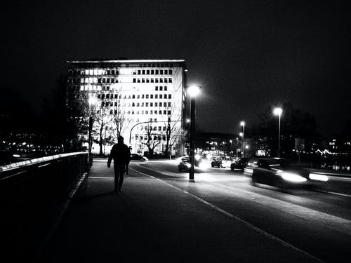 Free stock photo of black-and-white, dark, dunklen nacht