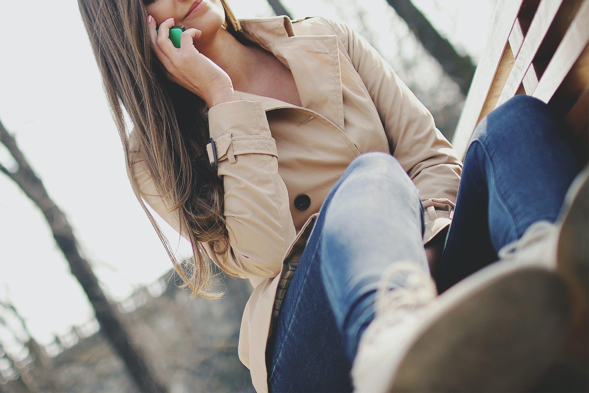 Free stock photo of fashion, person, woman, smartphone