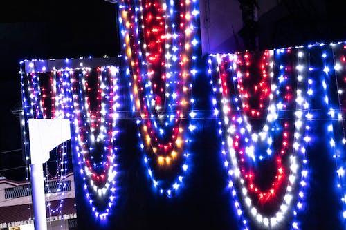 Free stock photo of colorful lights, hanging lights, lighting