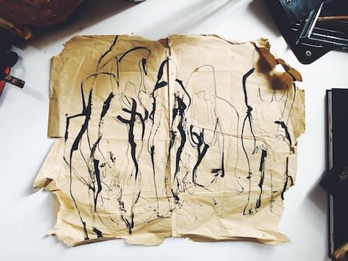 Бесплатное стоковое фото с Антикварный, беспорядочный, бумага, грязный