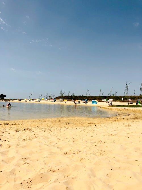 mutluluk, parlak güneş, plaj, tatil içeren Ücretsiz stok fotoğraf