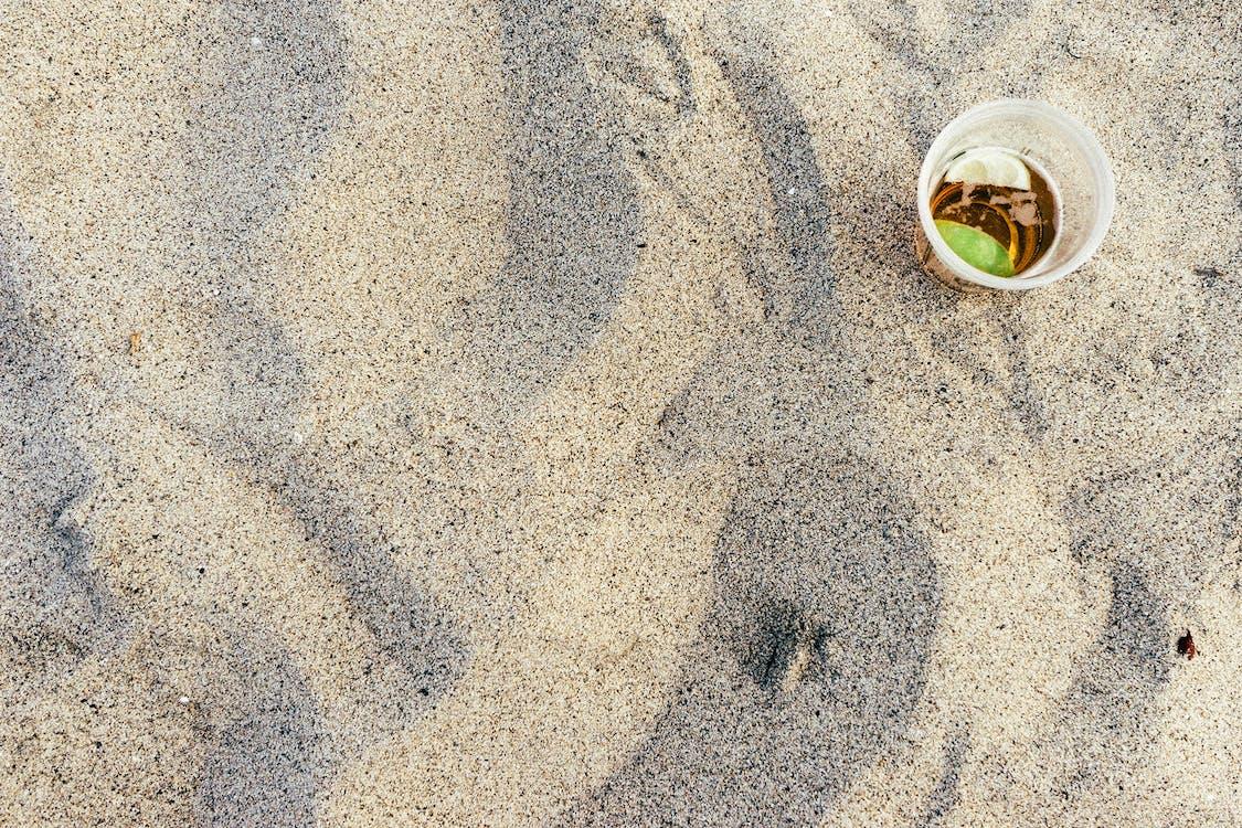 ドリンク, ビーチ, 砂