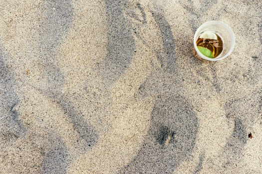 Free stock photo of beach, sand, drink