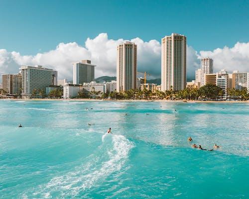 People Swimming on Beach