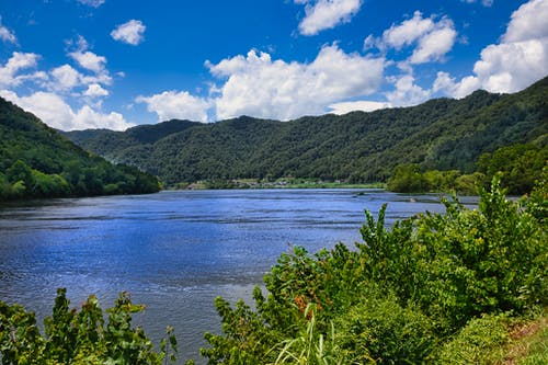 Free stock photo of clouds, kanawha river, mountains, river