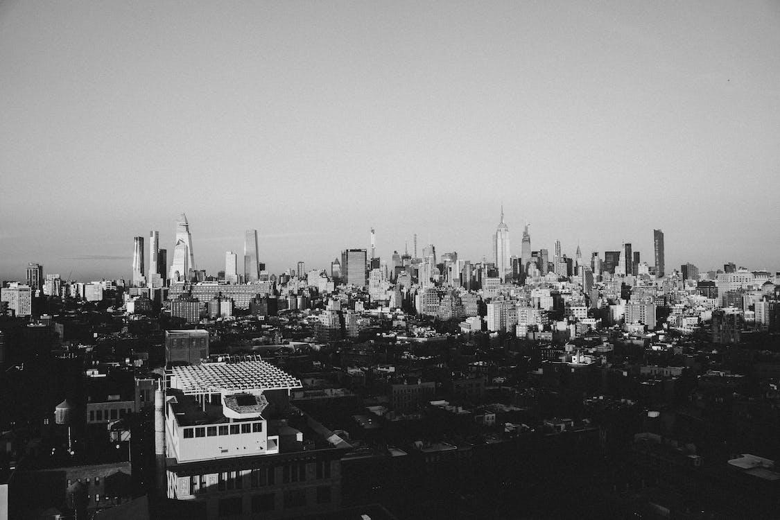 Základová fotografie zdarma na téma architektura, budova, černé a bílé město