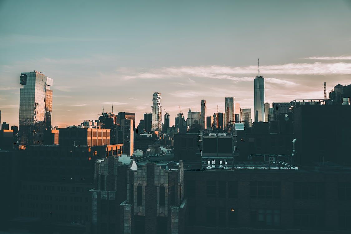 Základová fotografie zdarma na téma city_skyline, město new york, městské panorama