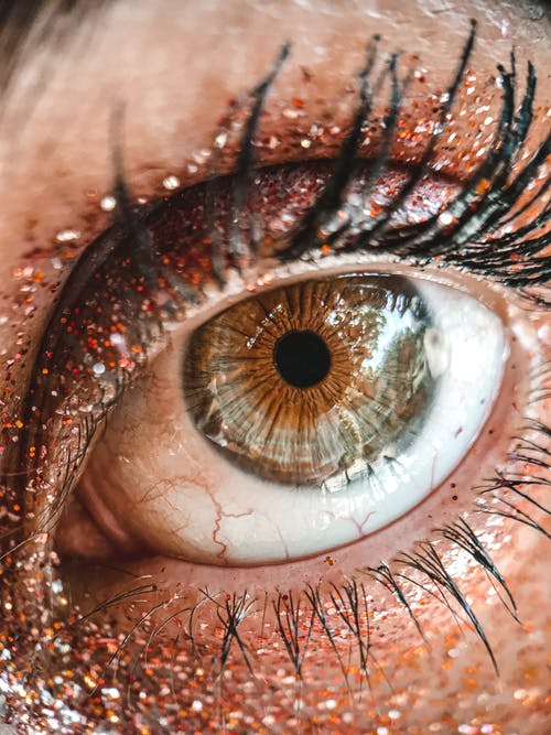 Human Eye in Close Up Photography