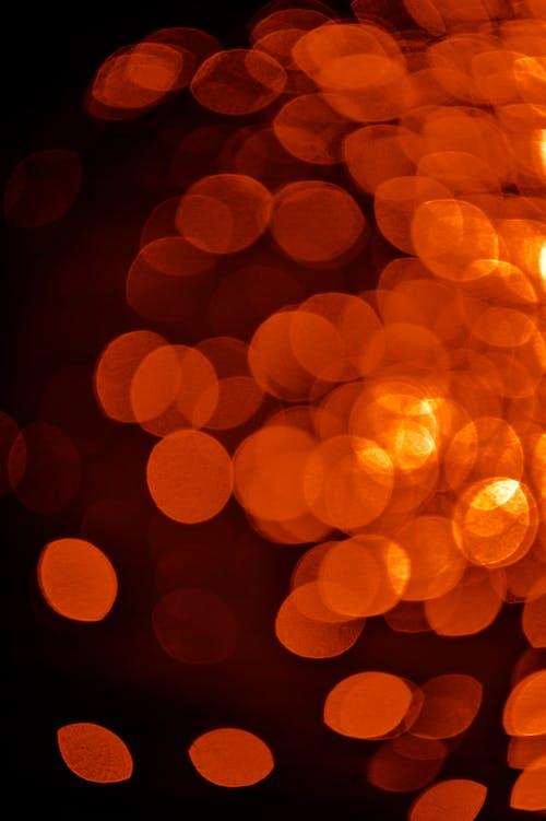 Orange and Yellow Bokeh Lights