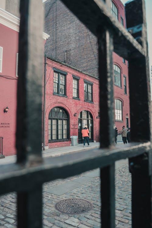 Free stock photo of cobblestone, cobblestone street, gate, new york city
