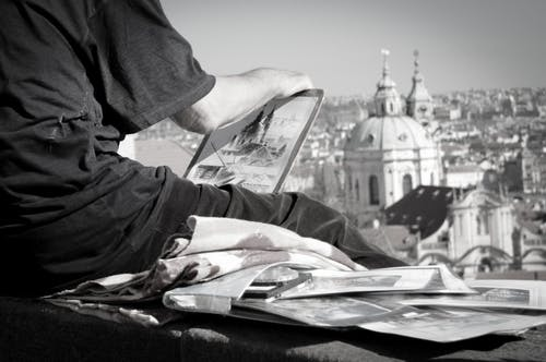 Free stock photo of architektura, černobílá fotografie, malir