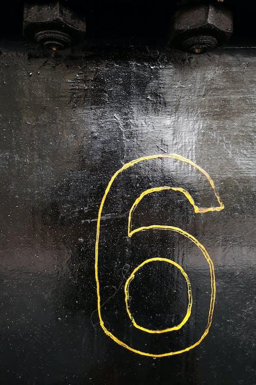 Free stock photo of 6, black background