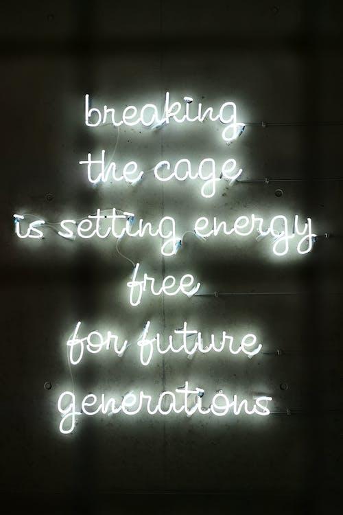 Gratis lagerfoto af bryde buret, neon kunst