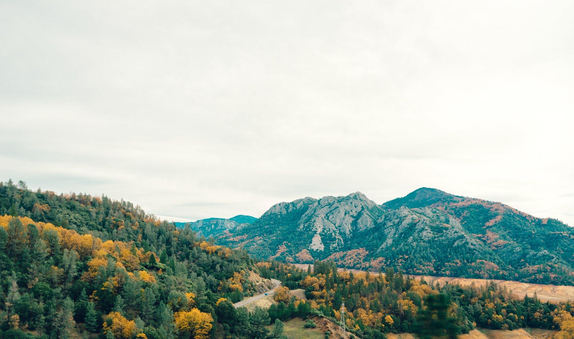 berge, hügel, landschaft
