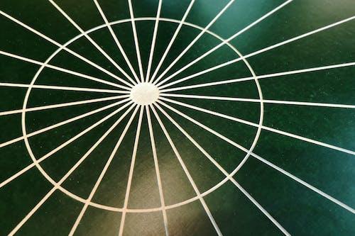 Gratis lagerfoto af abstrakt, cirkel, grøn baggrund, linjer