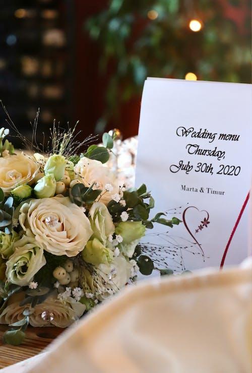 결혼, 결혼 배경, 결혼식 배경, 결혼식 부케의 무료 스톡 사진