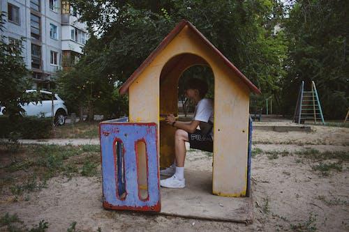 Free stock photo of boy, man, old playground, playground