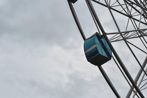 Free stock photo of Booth, ferris wheel, sky