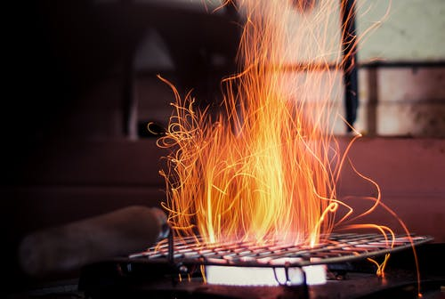 Sparks Flying off of a Grill