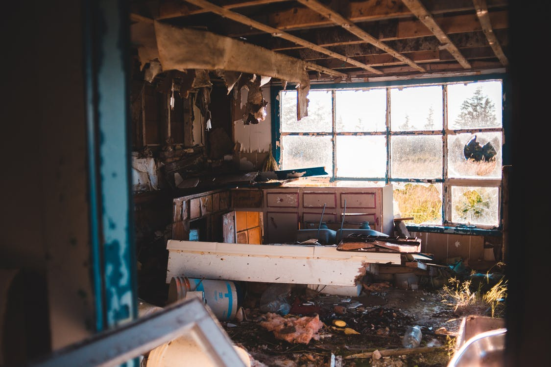 Interior of shabby abandoned house