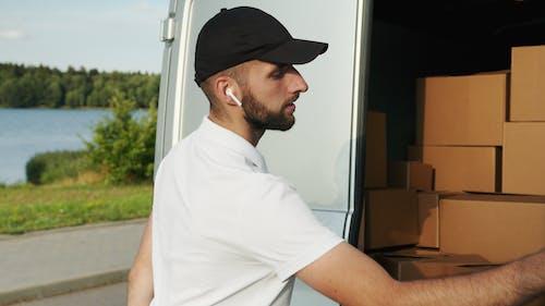 Man Delivering Packages