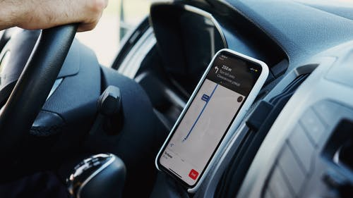 Black Samsung Android Smartphone on Car Seat