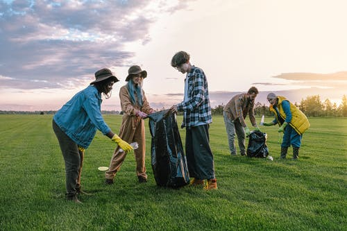 People Standing on Green Grass Field