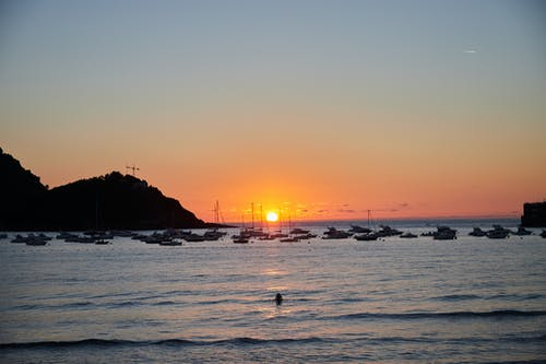Free stock photo of actividad de playa, Agua de mar, arena, Atardecer