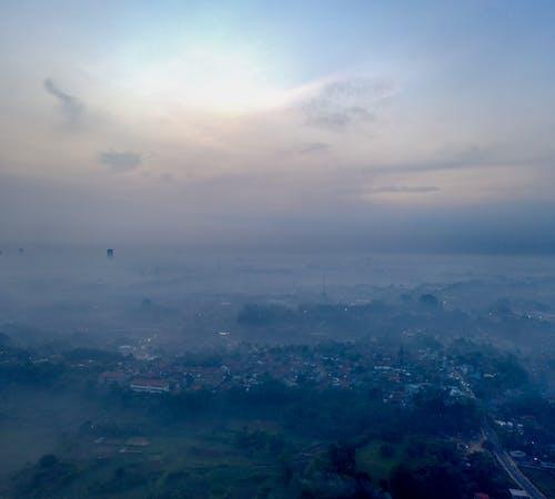 Gratis lagerfoto af afstand, aften, antenne, bjerg